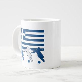 ギリシャ-サッカーの選手 ジャンボコーヒーマグカップ