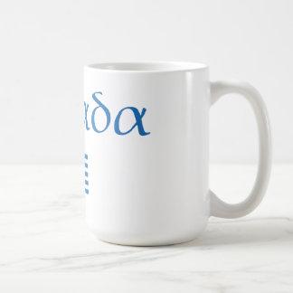 ギリシャ + 旗 コーヒーマグカップ