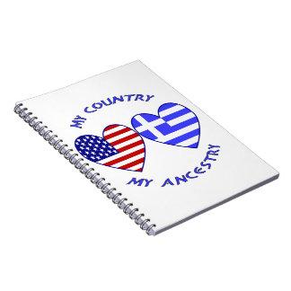 ギリシャ/米国の国の家系 ノートブック