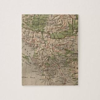ギリシャ(1880年)のヴィンテージの物理的な地図 ジグソーパズル