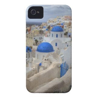 ギリシャ、Santorini。 3の鐘桜そして青いドーム Case-Mate iPhone 4 ケース