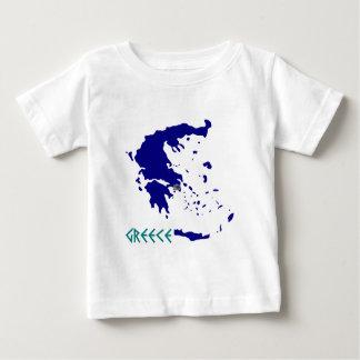 ギリシャmap.jpg ベビーTシャツ