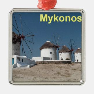 ギリシャMykonosの風車(Aggel) メタルオーナメント