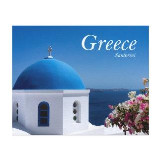 ギリシャSantorini旅行 キャンバスプリント