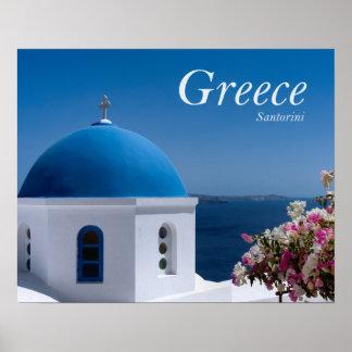 ギリシャSantorini旅行 ポスター