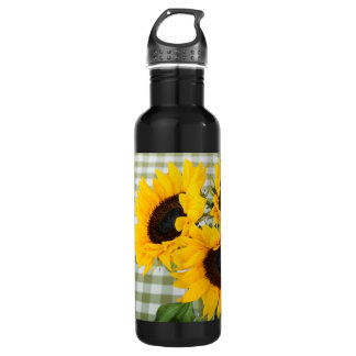 ギンガムのヒマワリ ウォーターボトル