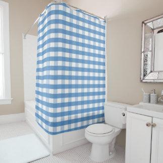 ギンガムの新しいシャワー・カーテン シャワーカーテン