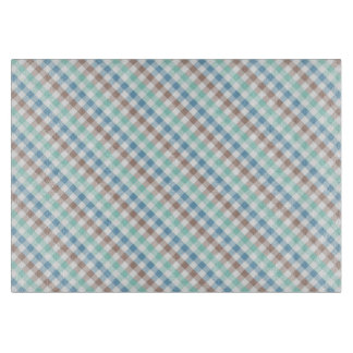 ギンガムの格子縞のデザイン カッティングボード
