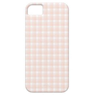ギンガムの点検パターン。 モモのピンクおよび白 iPhone SE/5/5s ケース