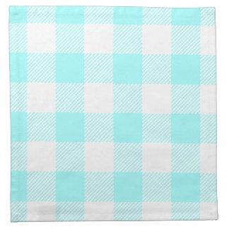 ギンガムの点検パターン(淡いブルーの) ナプキンクロス