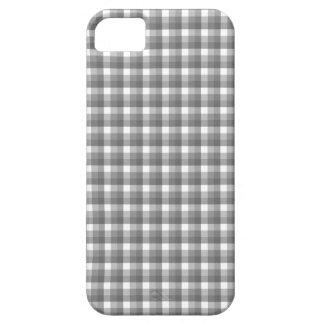 ギンガムの点検パターン。 灰色および白 iPhone SE/5/5s ケース