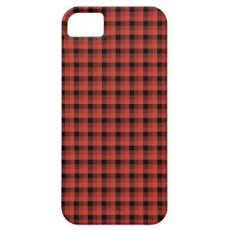ギンガムの点検パターン。 赤くおよび黒い格子縞 iPhone SE/5/5s ケース