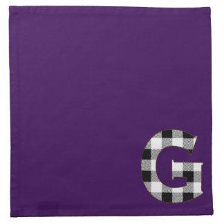 ギンガムの点検G ナプキンクロス