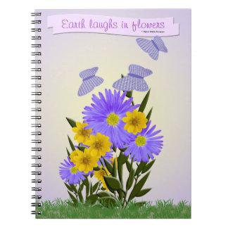 ギンガムの蝶および野生の花 ノートブック