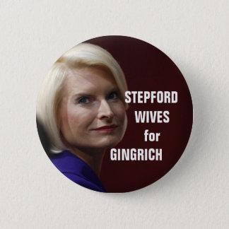 ギングリッチのためのSTEPFORDの妻 5.7CM 丸型バッジ