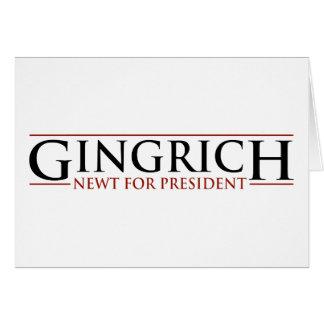 ギングリッチ- PresidnetのためのNewt カード