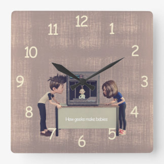 ギークがベビーをいかに作るか スクエア壁時計