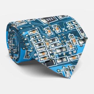 ギークのおたくコンピュータギークのサーキットボード-青 カスタムネクタイ