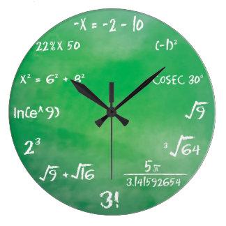 ギークのための数学の同等化のクイズ ラージ壁時計