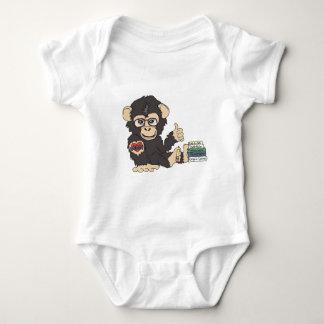 ギークのチンパンジー ベビーボディスーツ