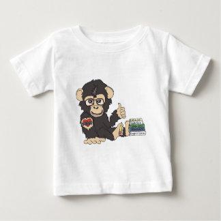 ギークのチンパンジー ベビーTシャツ