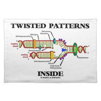 ギークのユーモアDNAの写しの中の歪んだパターン ランチョンマット
