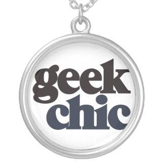 ギークの上品 シルバープレートネックレス