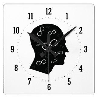 ギークの心 スクエア壁時計