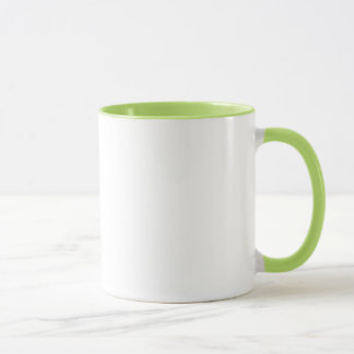 ギークの朝食の緑のリングのマグ マグカップ
