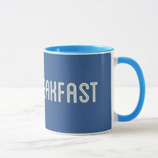 ギークの朝食の青いフルテキストのリングのマグ マグカップ