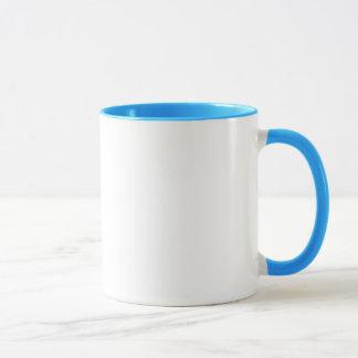 ギークの朝食の青いリングのマグ マグカップ