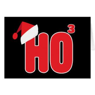 ギークの真面目なクリスマスのHo x3ユーモア カード