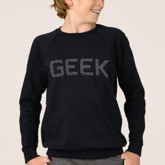 ギークの2進符号プログラマーカッコいいのコンピュータマニア スウェットシャツ