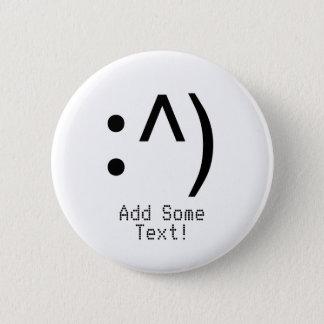 ギークコード顔ボタンあなたの文字 5.7CM 丸型バッジ