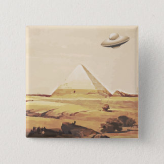 ギーザの宇宙船 5.1CM 正方形バッジ
