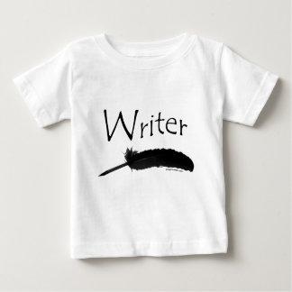 クイルペンを持つ作家 ベビーTシャツ