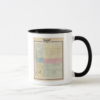 クインシー都市の地図 マグカップ