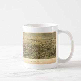 クインシー(1877年)のヴィンテージの絵解き地図 コーヒーマグカップ