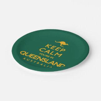 クイーンズランドの平静をあなたは保って下さい! ペーパープレート