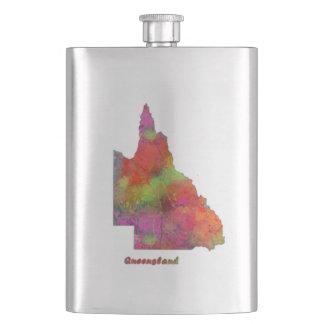 クイーンズランド州の地図-クラシックはフラスコを飲みます フラスク