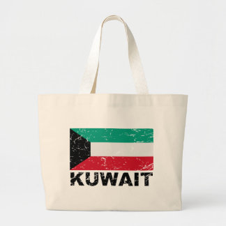 クウェートのヴィンテージの旗 ラージトートバッグ