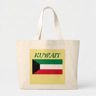クウェートの旗のカスタムなトートバック ラージトートバッグ