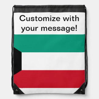 クウェートの旗 ナップサック