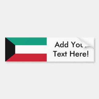 クウェートの旗 バンパーステッカー