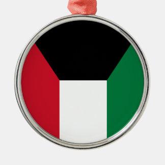 クウェートの旗 メタルオーナメント