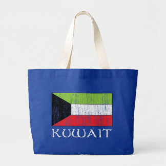 クウェートの旗 ラージトートバッグ
