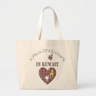 クウェートの私のハートの部分 ラージトートバッグ