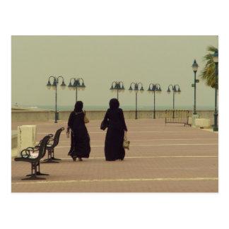 クウェ-トに女性の買物をすること ポストカード