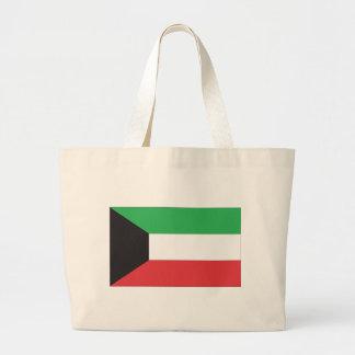クウェ-トの旗 ラージトートバッグ