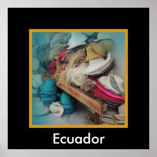 クエンカエクアドルの帽子の工場 ポスター